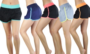 Women's Contrast Accent Running Shorts