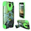 Insten Sublime Flower Hard Hybrid Case For Zte Prestige Green/blue