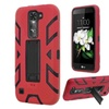 Insten Shockproof Hybrid Hard Cover Stand Case For Lg K7/ Red/black