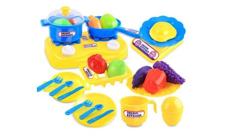 26pcs Kids Kitchen Utensils Food Cooking Pretend Play Set Toy fd481f16-03bd-450c-bd34-7336cbe5a3fe