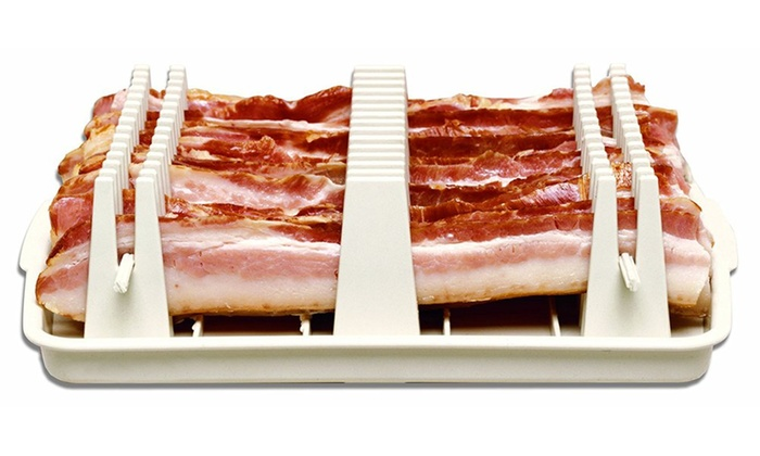 Bacon wave microwave cooker livingsocial for Decor bacon cooker