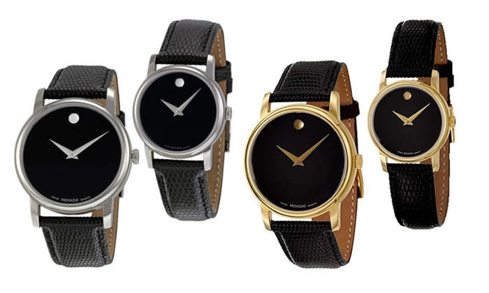Up To 34% Off on Movado Museum Black Dial Stee...   Groupon Goods 588f0f79e7