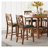 Sogne 7 Piece Counter Height Dining Set in Brown Finish