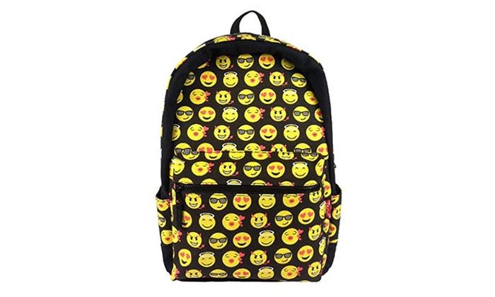 Cute Emoji Backpack Cool Kids School Backpack