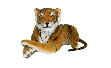 Large Tiger Plush Animal Realistic Big Cat Orange Bengal Soft Stuffed 984c93b8-b048-432b-b170-6e30b76c0e6f