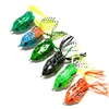 6Pcs Frog Fishing Lure 55mm 14g Soft Baits Hollow Rubber Lures