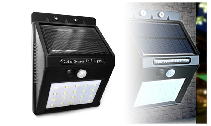20 LED Solar Power Motion Activated Outdoor Wall Light