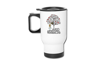 Mayfay Alices Adventures In Wonderland Page Insulated Coffee White 0b16a5cf-545a-40d4-9ade-f2b2866429cc