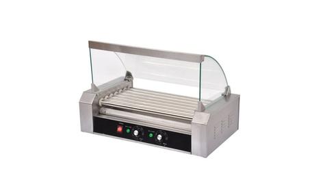 Commercial 18 Hot Dog Hotdog 7 Roller Grill Cooker Machine W/ cover 887f5aba-f6ee-4f18-b6b3-aa0e75d4ebfc