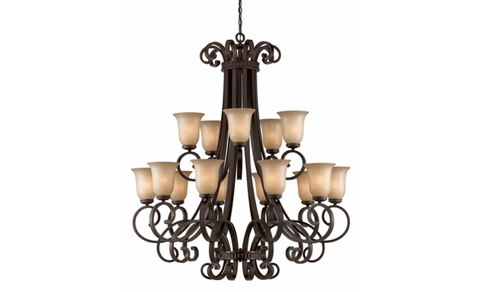 Underwood Collection 15-Light Bronze Chandelier