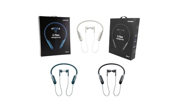 Samsung U Flex Bluetooth Wireless In Ear Flexible Neckband Headset W Microphone Groupon