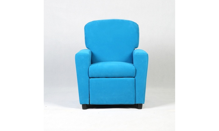 Kids Recliner Sofa Armrest Chair Couch Lounge Children Blue