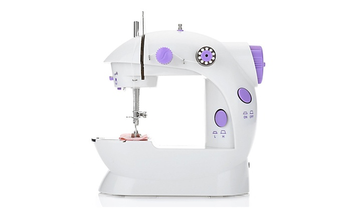 Up To 40% Off On Mini Sewing Machines Dual Spe Groupon Goods Simple Mini Sewing Machine