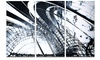 3D Abstract Art Black Structural - Abstract  Metal Wall Art