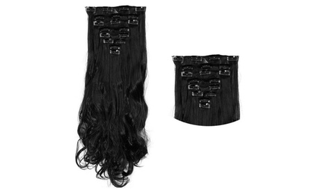 Real Human hair Clip In Hair Extensions 17-inch (8-Piece)