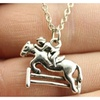 Simple Fashion Antique Silver Color Horse Racing Necklace