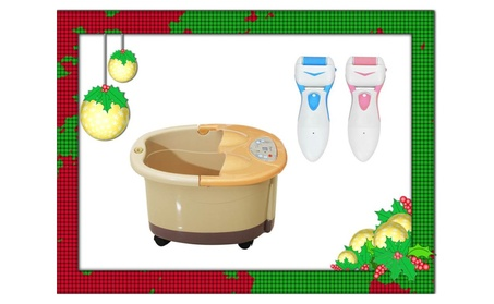 Soozier Foot Bath Massager Spa Buble & Electrical Callus Removal Free a2db5501-2f37-4f17-9414-23b432e07449