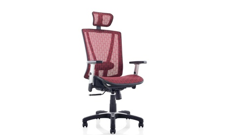 Fully Meshed Ergo Office Chair with Headrest (Red) 337d4b8f-225d-4c0b-bfb8-06e9660a91d9