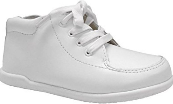be0ee260d1eb ... White Smart Step ST2136 Unisex Leather Infant Walking Shoes