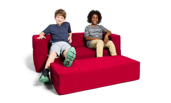 Super Jaxx Zipline Kids Sofa Large Ottoman 3 In 1 Fold Out Sofa Short Links Chair Design For Home Short Linksinfo
