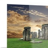 Stonehenge Landscape Photography Metal Wall Art 28x12