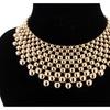 Zinc Alloy Choker Collier Hyperbole Balls Necklace for Women