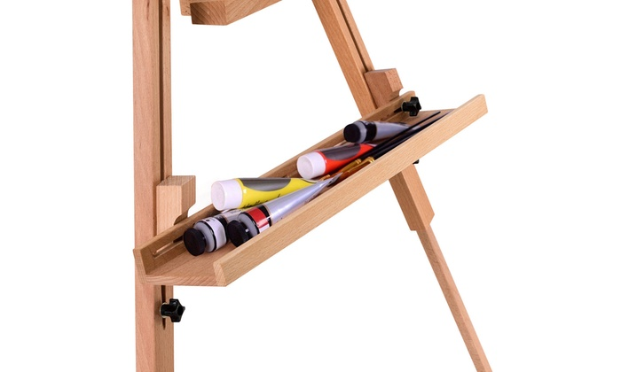 Up To 67% Off on Foldable Wood Tripod Easel Sk      Groupon