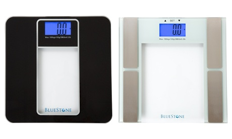 Digital Tempered Glass Bathroom Scales with LCD Display by Bluestone
