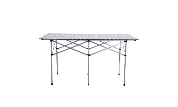 Roll up portable folding camping rectangle aluminum picnic table w roll up portable folding camping rectangle aluminum picnic table wbag watchthetrailerfo