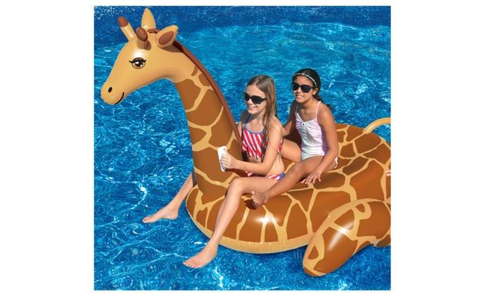 Swimline Giant Inflatable April The Giraffe Ride On Float