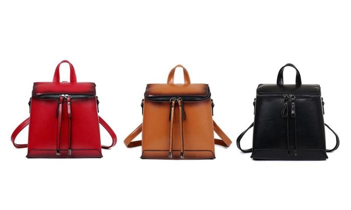 Women Retro Multi-functional Backpack