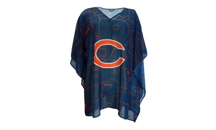brand new ad39e 085b3 Little Earth 300627-BEAR-TRACE Chicago Bears Team Caftan Trace