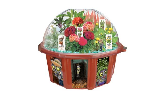 dome terrarium zombie farm groupon. Black Bedroom Furniture Sets. Home Design Ideas
