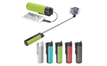 4-in-1 Wireless Bluetooth Speaker Power Bank Selfie Stick Phone Mount 1e0aeb58-ff2b-48de-830d-cfb37e0c921f