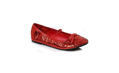 Ellie Shoes E013BALLETGR-S Red Ballet Slipper with Glitter Child 8a9dd641-ebe3-4176-bbf3-4b827926db12
