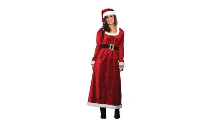 Sunnywood Women's Charming Ms. Santa Costume Red