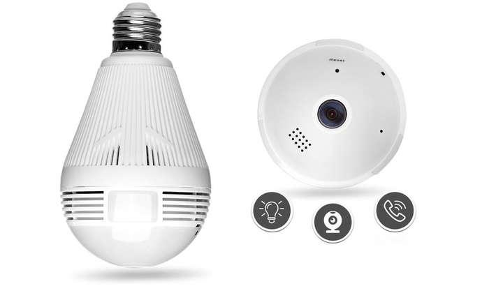 V380 360 degree Panoramic HD 960P Hidden wifi Camera Light Bulb IP