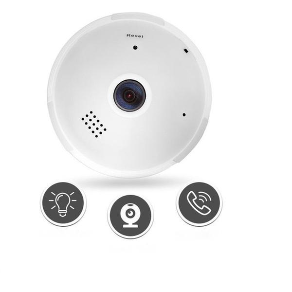 V380 360 degree Panoramic HD 960P Hidden wifi Camera Light Bulb IP Cam