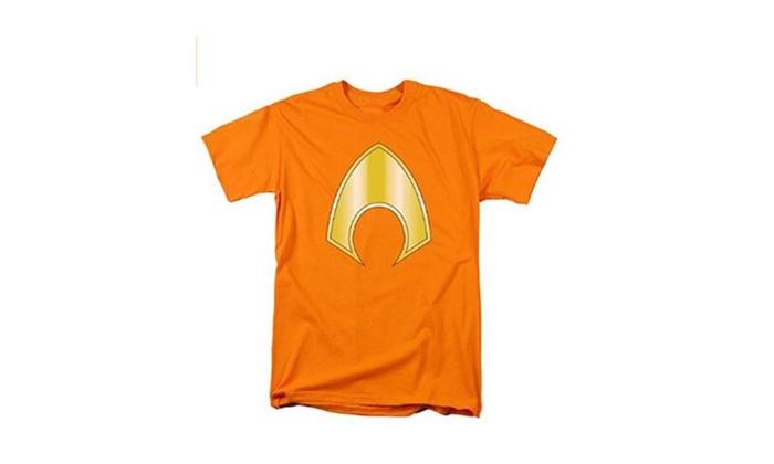 Justice League Aquaman Logo Short Sleeve Shirt Adult