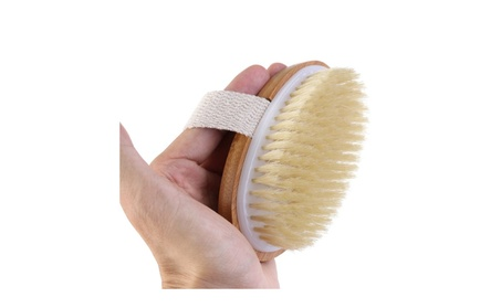 Natural Durable Bristle Wooden Body Bath Shower Back Dry Skin Brush