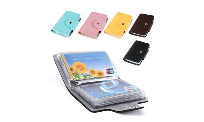 Compact Business and Credit Card Holder Different Colors