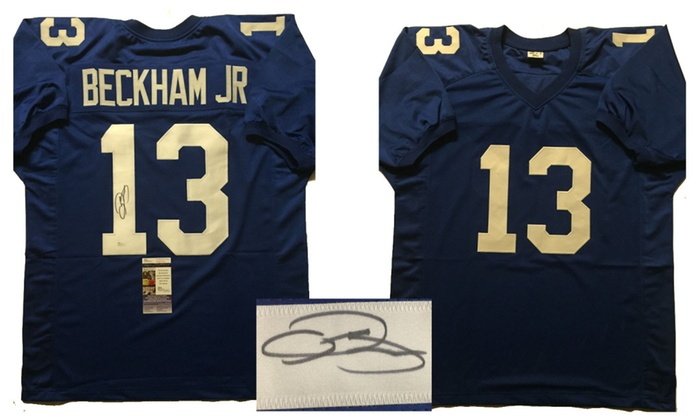 sports shoes 1a477 81688 Autographed/Signed Odell Beckham Jr. New York Giants Jersey ...