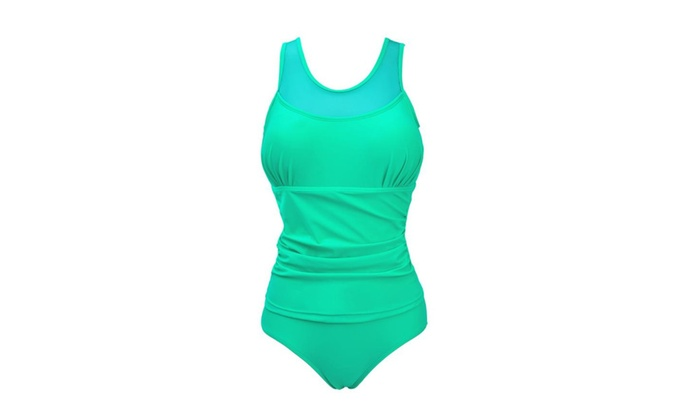 One Piece Plus Size Elegant Inspired Fashion Maillot Mesh Swimsuit