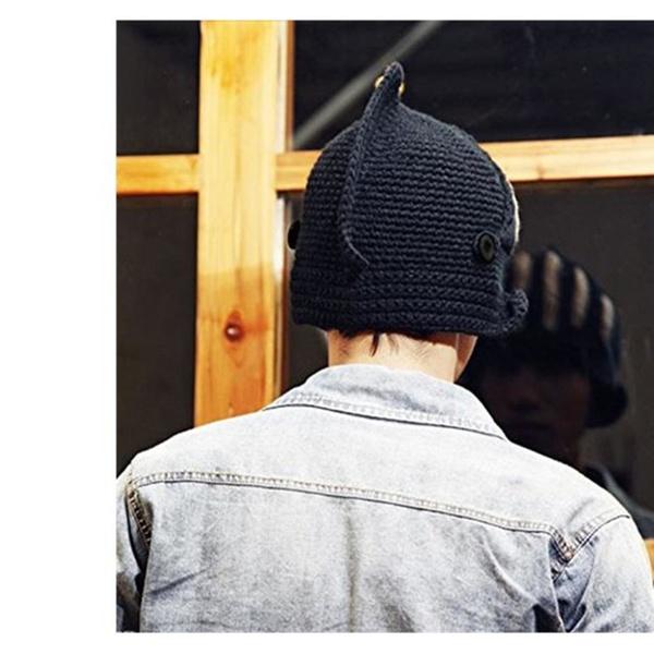 2d70adca9d4 Roman Cosplay Knight Helmet Visor Knit Hat Winter Mask Cap