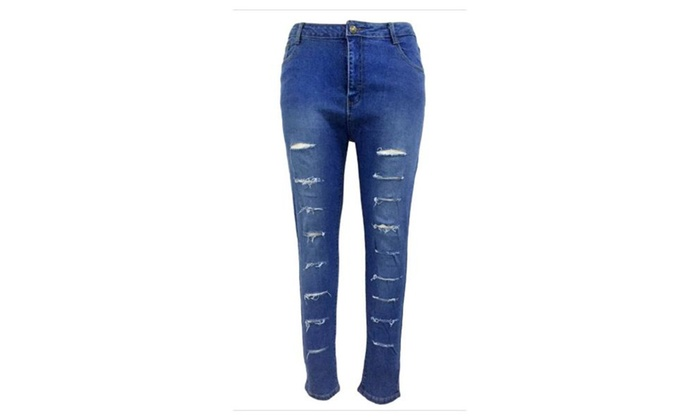 Women's Fashion ButtonsUp High Rise Straight Leg Jeans