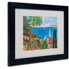 Manor Shadian 'Three Sails on the Pacific' Matted Black Framed Art
