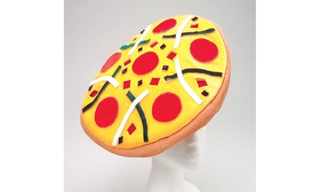Pizza Hat Novelty Party Beret Hat 18""