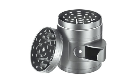 FlyHigh 5-Piece Titanium Herb Grinder with Easy Access Window