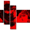 Speak Out Red Lips - Large Contemporary Canvas Art - 63x32 - 4 Panels