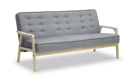 Closeout: Timor Mid-Century Fabric 1-seater/2-seater/3-seater sofa